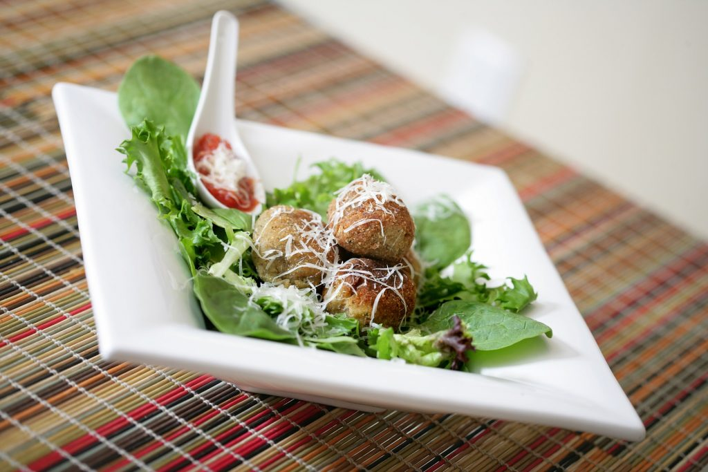 vegetables meat balls